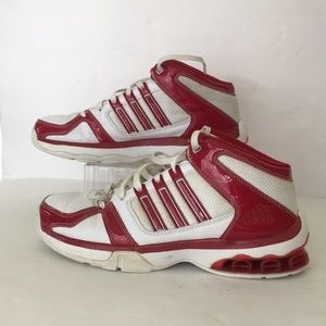 quality design 442b2 3846b adidas Shoes - Adidas Women s tennis shoes white and red size 8